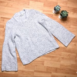 Madewell Bell Sleeve Knitted Pullover Sweater
